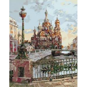 Q1827 Картина по номерам театральный мост в санкт-петербурге 40x50см купить в Омске недорого