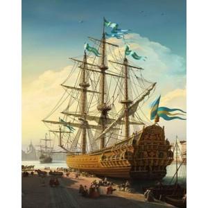 Q1977 Картина по номерам украинский корабль 40x50см купить в Омске недорого