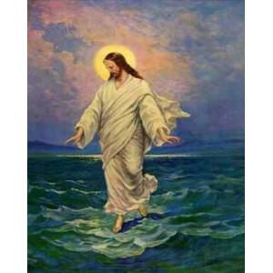 """q2182.Картина по номерам """"Иисус над водой"""" 40x50 см купить в Омске недорого"""