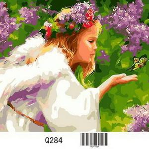 Q284 Раскраски по номерам Бабочка и Ангел Картина на холсте 40х50 см GX8359/Q284 купить в Омске недорого