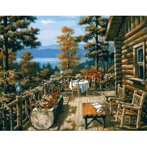 Q865 Картина по номерам обеденная веранда 40x50 см купить в Омске недорого