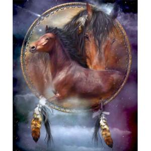 """GХ5295 """"Ловец снов с лошадьми"""", 40х50 см"""