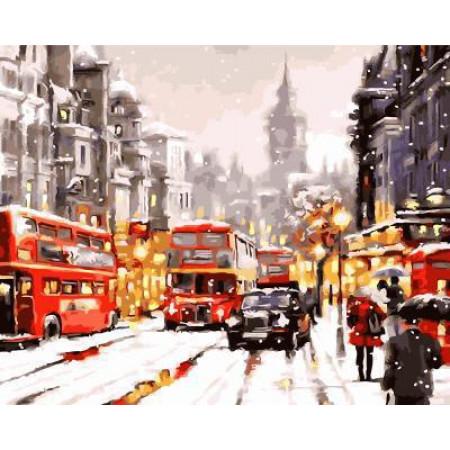 """GX5395 """"Зимний Лондон"""", 40х50 см"""