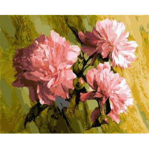 """GX5433 """"Три розовых пиона"""", 40х50 см"""