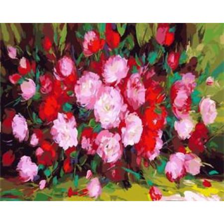 """GX5434 """"Красно-розовый букет"""", 40х50 см"""
