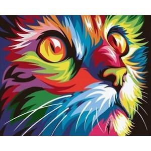 q2212 Картина по номерам поп-арт кошка 40x50см купить в Омске недорого