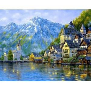 Q2239 Картина по номерам пейзаж на альпы 40x50см купить в Омске недорого