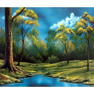 RDG-0026 картина по номерам заводь 40 на 50 см купить в Омске недорого