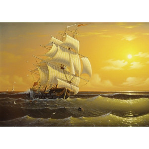RDG-0364 картина по номерам Закат 40 на 50 см купить в Омске недорого