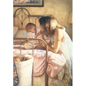 RDG-0375 картина по номерам Мамино счастье 40 х 50 см купить в Омске недорого
