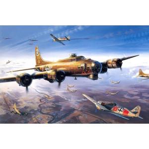 RDG0287 картина по номерам на холсте Воздушный бой 40 на 50 см купить в Омске недорого