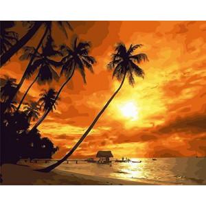"""GX21812 """"Пальмы на закате"""", 40х50 см"""