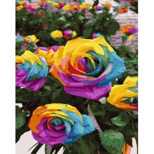 """GX21924 """"Разноцветные розы"""", 40х50 см"""