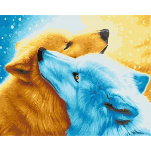 """GX21927 """"Голубая и рыжая собаки"""", 40х50 см"""