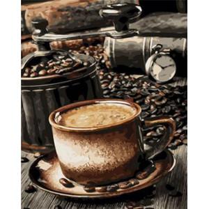 "GX22014 ""Мельница и чашка кофе"", 40х50 см"
