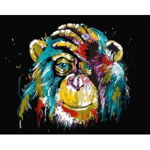 """GX25714 Картина по номерам """"Цветная обезьяна"""", 40х50 см"""