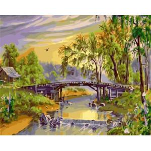 """GX21133 """"Мост через лесную реку"""", 40х50 см"""