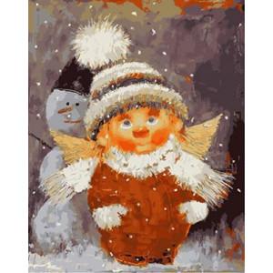 """GX21299 """"Домовенок и снеговик"""", 40х50 см"""