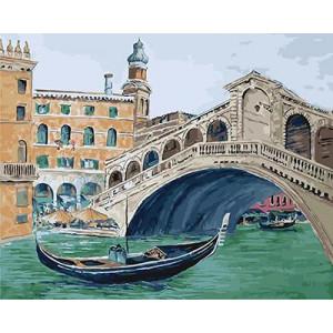 """GX21302 """"Гондола под венецианским мостом"""", 40х50 см"""