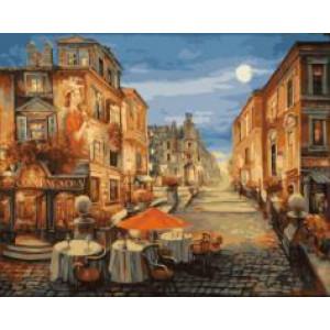 """GX21436 """"Столики на вечерней улице"""", 40х50 см"""