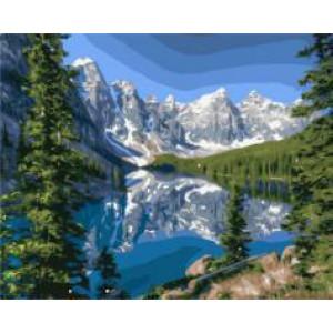 """GX21507 """"Озеро у альпийских гор"""", 40х50 см"""
