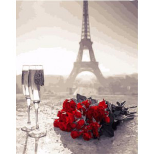 "GX21511 ""Розы на фоне Эйфелевой башни"", 40х50 см"