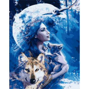 """GX21695 """"Девушка и волки"""", 40х50 см"""