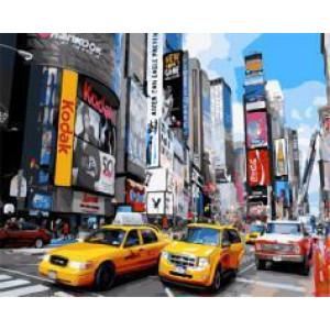 "GX21697 ""Желтые машины в Нью-Йорке"", 40х50 см"