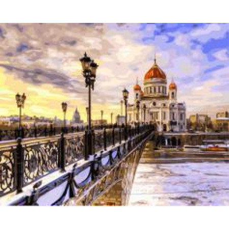 """GX 21725 """"Мост через Неву к храму"""", 40х50 см"""