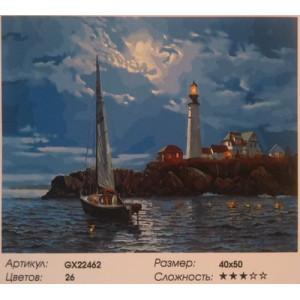 "GX 22462 ""Яхта на фоне маяка"", 40х50 см"