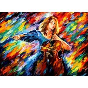 "GX22571 ""Девушка играет на виолончеле"", 40х50 см"