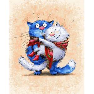 """GX 22575 """"Кошка на руках у кота"""", 40х50 см"""