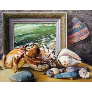 RDG-2160  Картины по номерам 40х50 «Морские атрибуты»