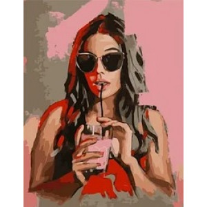 """MCA1006 Картина по номерам """"Клубничный коктейль"""",  40х50 см"""