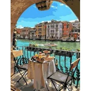 """MCA1014 Картина по номерам """"Завтрак для двоих в Венеции"""",  40х50 см"""
