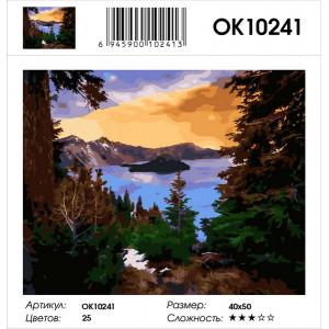OK10241 Озеро в горах картина по номерам 40х50