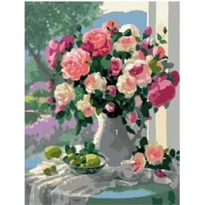 """MCA1031 Картина по номерам """"Цветочно-фруктовый натюрморт"""",  40х50 см"""