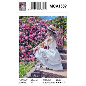"""MCA1339 Картина по номерам """"Фотосессия в цветах"""", 40х50 см"""