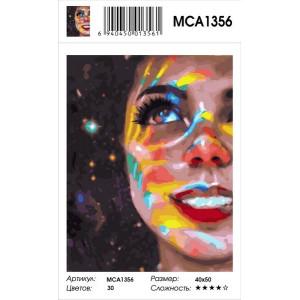 """MCA1356 Картина по номерам """"Девочка- космос"""", 40х50 см"""