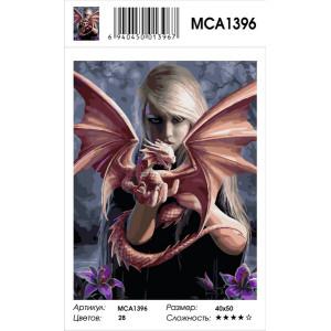 """MCA1396 Картина по номерам """"Приручила дракона"""", 40х50 см"""
