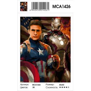 """MCA1426 Картина по номерам """"Защитники"""", 40х50 см"""