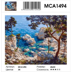 "MCA1494 Картина по номерам ""Скалистое морское побережье"", 40х50 см"