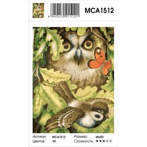 "MCA1512 Картина по номерам ""Загадки леса"", 40х50 см"