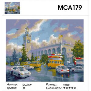 """МСА179 (GX27824) Картина по номерам """"ЖД вокзал Сочи"""" 40х50 см"""