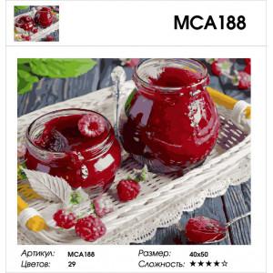 """МСА188 (GX27844) Картина по номерам """"Малиновое варенье"""" 40х50 см"""