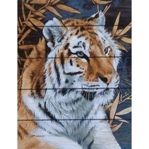 GXT21123 Взгляд тигра Картина на дереве 40х50