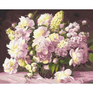 Картина по номерам GX 21254 Нежные пионы 40x50 см