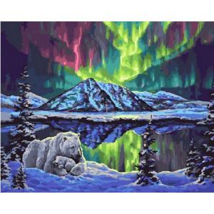 Картина по номерам 40х50 GX 21854 Северное сияние 40x50 см