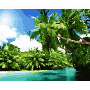 GX22160 Тропический остров Картина по номерам 40х50