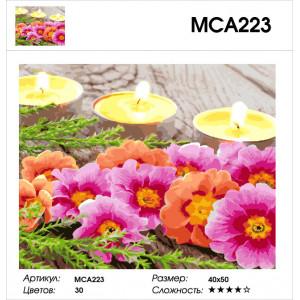 """МСА223 (GX27847) Картина по номерам """"Цветы и свечи"""" 40х50 см"""